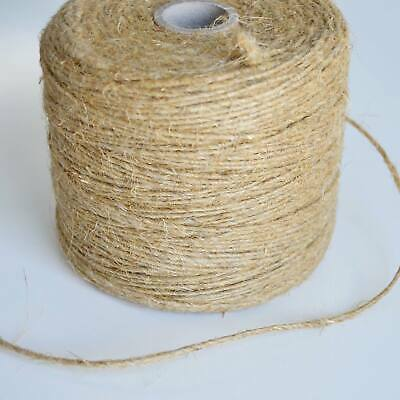 Natural Brown  Craft Jute Twine  String Rustic Cord Shabby Garden DIY • 1.99£
