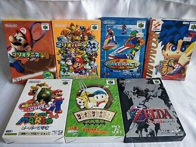 $ CDN134.25 • Buy Whole Sale Lot Of 7 Nintendo 64 N64 Game Cartridge,Manual,Boxed Not Tested-c0729