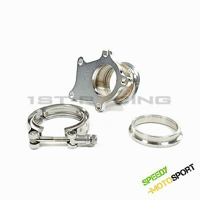 $ CDN90.44 • Buy 5 Bolt To 2.5   V-Band Adapter + Flange + Clamp Kit Fit GT35 T3 T4 GT3071R TURBO