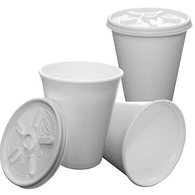 DART 7/10/12oz Polystyrene Insulated Hot Cold Cofee Soup Gravy Disposable Cups • 9.89£