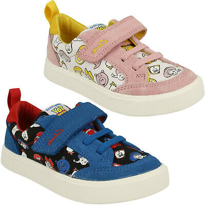 £30 • Buy Girls Boys Clarks City Howdy Toddler Toy Story Infant Casual Canvas Shoes Size