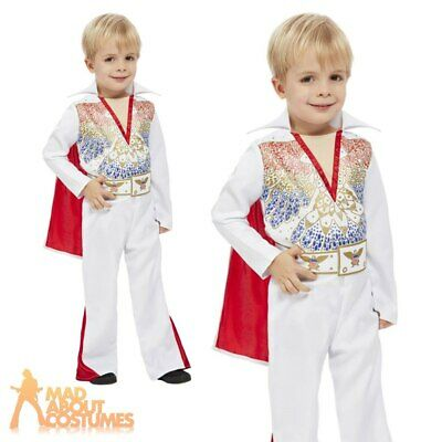£16.99 • Buy Child Elvis Toddler Costume Boys Toddler King Outfit World Book Day Fancy Dress