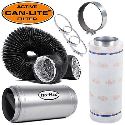 Isomax Canlite Extraction Fan System Kits Grow Room Tent Extractor Carbon Filter • 689.99£