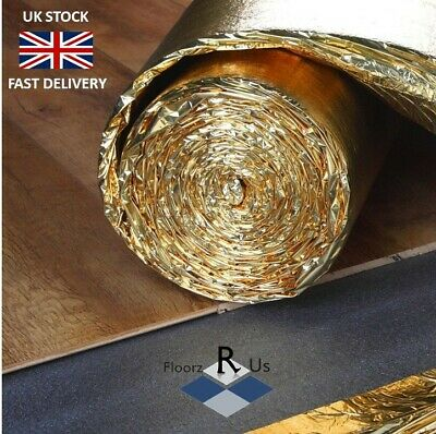 5mm Super Gold Laminate And Wood Flooring Underlay Acoustic 7 Heat Insulation  • 17.99£