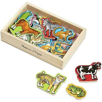 Melissa & Doug Wooden Animal Magnets, Classic Developmental Toy, Storage Box, 2+ • 11.08£