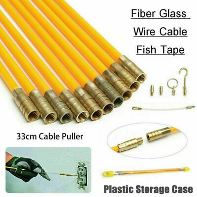 CABLE ACCESS KIT KITS ELECTRICIANS PUSH PULL PULLER ROD RODS WIRE WIRES 4mm • 11.99£