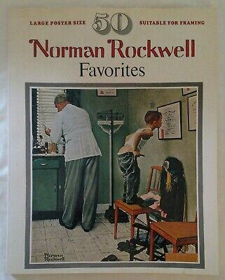 $ CDN26.21 • Buy 2 Norman Rockwell Favorites Books Finch 50 Large Size Coffee Table Posters 1977