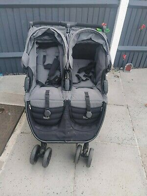 Britax B-Agile Double Buggy/ Pushchair In Black/grey. Used Condition. • 90£