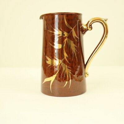Antique Gibsons Victorian Brown Tortoiseshell Patterned Jug #772 - 15cm Tall • 8£