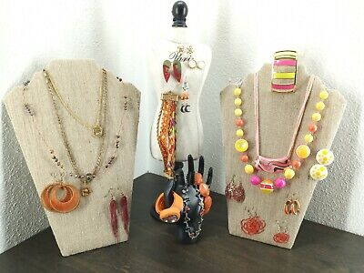 $ CDN26.35 • Buy Costume Jewelry Lot - Unsearched - Untested - As Is - Vintage To Now - Orange