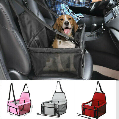 UK Gray Large Car Seat Carrier Cat Dog Pet Puppy Travel Cage Booster Belt Bag • 11.88£