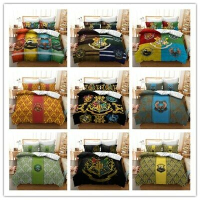 AU78.09 • Buy Bedclothes Set Harry Potter 3D Bedding Set Duvet Covers Pillowcases