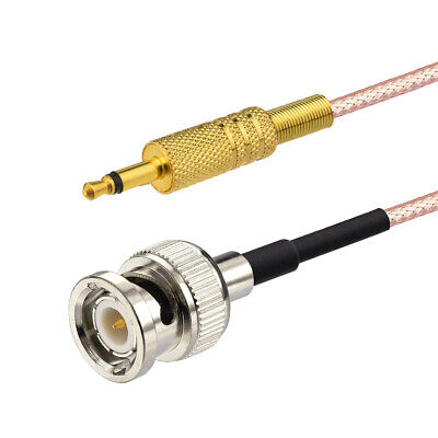 $ CDN17.13 • Buy BNC Male To 3.5mm 1/8  Mono Male Coaxial Power Audio Cable 10Ft For CCTV Camera