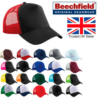 Beechfield Snapback Trucker Baseball Mesh Adjustable Cap Hat Men Unisex B640 • 5.69£