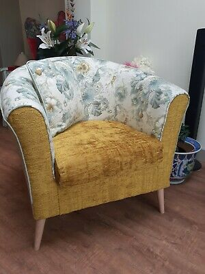 £100 • Buy Large Patchwork Tub Armchair/statement Chair