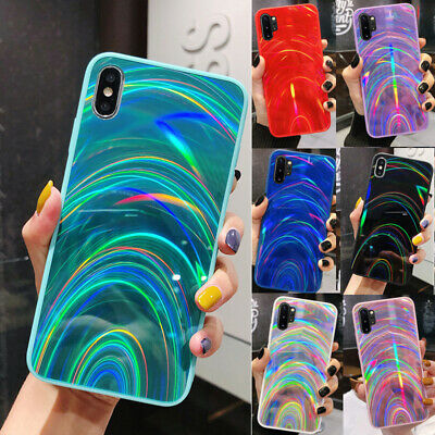 Rainbow Dazzling Bling Mirror Silicone Case For IPhone 12 SE 2020 7Plus 8 XR Xs • 5.01£