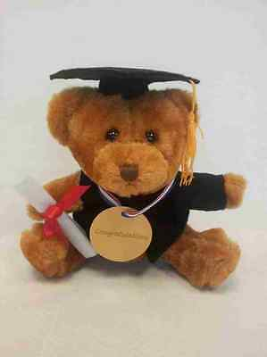 £8.45 • Buy Graduation Gift Teddy Bear With Graduation Gown And Mortarboard/Cap/Hat-6 Inches