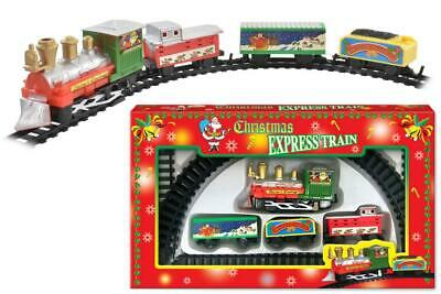 CHRISTMAS TRAIN EXPRESS SET Toy Holiday Festive Track Light And Sound Kids Gift • 6.99£