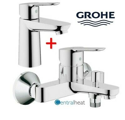 £144 • Buy Grohe BauEdge Basin Mixer Tap & Bath Shower Mixer Package