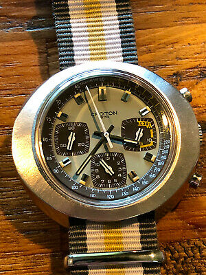 $ CDN2129.44 • Buy Near NOS Vintage Croton 1878 Valjoux Chronograph Swiss Made Funky