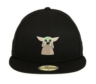 $125 • Buy Exclusive New Era 59Fifty 7 3/4 Baby Yoda Drinking Soup Fitted Cap Star Wars