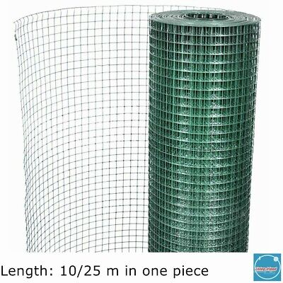 Garden Fence Square Wire Netting PVC Coated Galvanised Wire Mesh Aviary Chicken • 21.49£