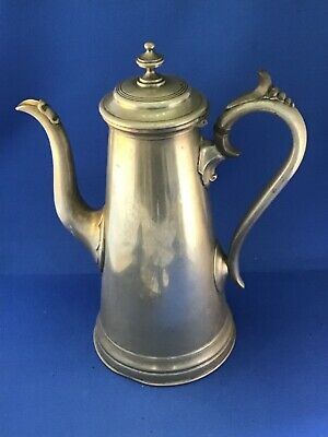 Antique Pewter Coffee Pot By James Dixon & Sons Of Sheffield • 65£