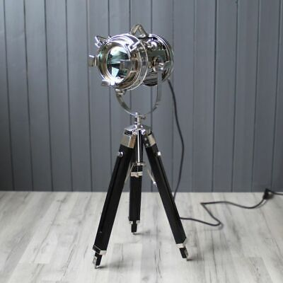 Extendable Tripod Wooden Stand Antique Brass Black Nickel Living Home Furniture • 59.99£