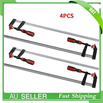AU54.89 • Buy 4X Heavy Duty F Clamps Woodworking Bar Clips Quick Slide DIY Hand Tool 80*600mm