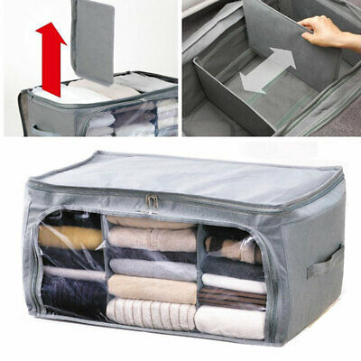 Clothes Bedding Storage Box Ziped Organizer Cube Bag Multi-compartment Practical • 8.94£