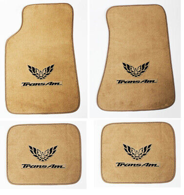 $142.79 • Buy NEW! Carpet Floor Mats Tan 1982-2002 FIREBIRD Trans Am Embroidered Logo On All 4
