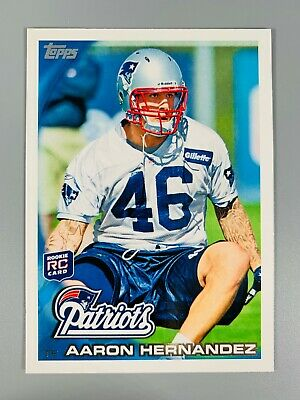 $1 • Buy Aaron Hernandez Rookie Card 2010 Topps #96 New England Patriots Rc Rare Invest