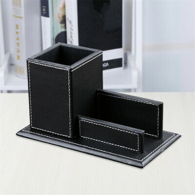 £9.40 • Buy Portable Business Card Box Pen Holder Durable Practical Small Office Organizer