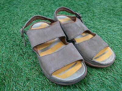 FitFlop Size 13 Kids Brown Leather Strappy Sandals • 9.99£