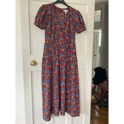 Topshop Women's Floral Midi Dress, Size 8 • 35.99£