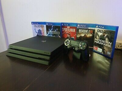 AU510 • Buy Sony PlayStation 4 Pro 1TB Black Console With Controller And 5 Games