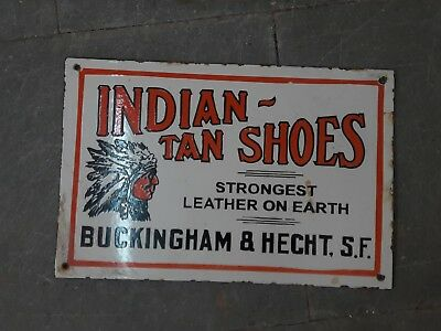 $ CDN751.95 • Buy Porcelain INDIA TAN SHOES Sign SIZE 12  X 18  INCHES