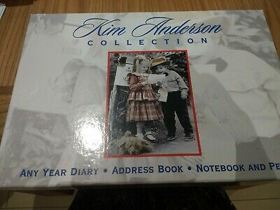 Kim Anderson Any Year Diary, Address Book, Notebook And Pen (new) • 20£