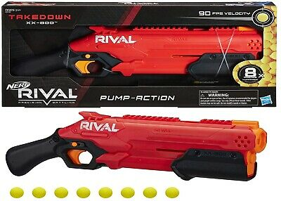 AU119 • Buy NERF Rival Takedown XX-800 Blaster Pump Action Ages 14+ Toy Gun Play Fight Fire