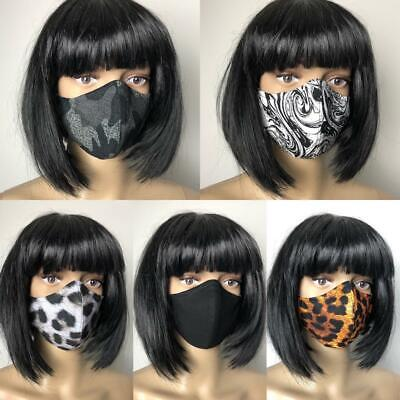 AU13.50 • Buy ** HOMEMADE ** Cotton Face Mask Washable With Nose Wire 2 Layer