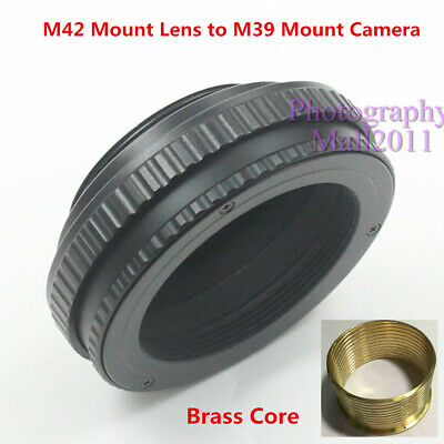 $19.99 • Buy Brass M42 To M39 12mm-19mm Adjustable Macro Tube Focusing Helicoid Mount Adapter