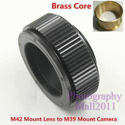 $26.99 • Buy Brass M42 To M39 25mm-55mm Macro Tube Adjustable Focusing Helicoid Mount Adapter