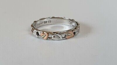 Clogau - Tree Of Life Ring Sterling Silver With Rose Gold Size S - VGC - Boxed • 34.33£