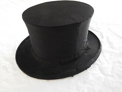 £65.44 • Buy Vintage Magician Top Hat Collapsible Folding Pop Up Black Satin Magic Stovepipe