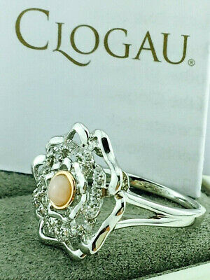 Clogau Gold Sterling Silver & 9ct Rose Gold Tudor Rose Opal Ring. Size P - £129 • 17£