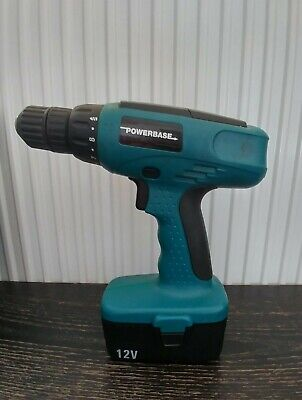 Powerbase Cordless 12V Drill With Battery In Case • 25£