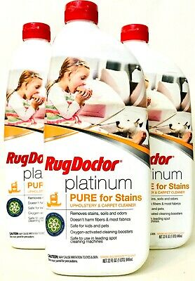 3 RugDoctor Platinum Pure For Stains Sparkling Breeze Upholstery Carpet Cleaner • 28.60£