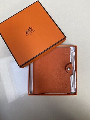 AU229 • Buy Hermes Togo Leather Ulysse Agenda Notebook Cover PM Small Orange