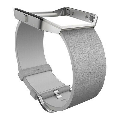 $ CDN54.71 • Buy Fitbit Blaze Band Leather Small FB159LBMGS- Mist Grey - [Au Stock]
