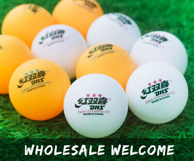 AU26.99 • Buy Wholesale DHS D40+ 3-Stars New Material Table Tennis Balls Plastic PingPong Ball